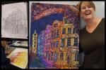 Discoveries In Oil Pastels. Kristy Margam-Elkins was interested to explore a journey from precise lines to colourful expression.