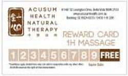 Massage Rewards Card