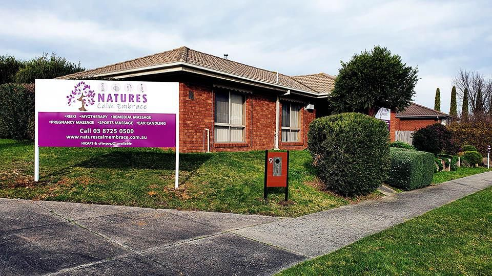 Natures Calm Embrace, Narre Warren, Front of the clinic