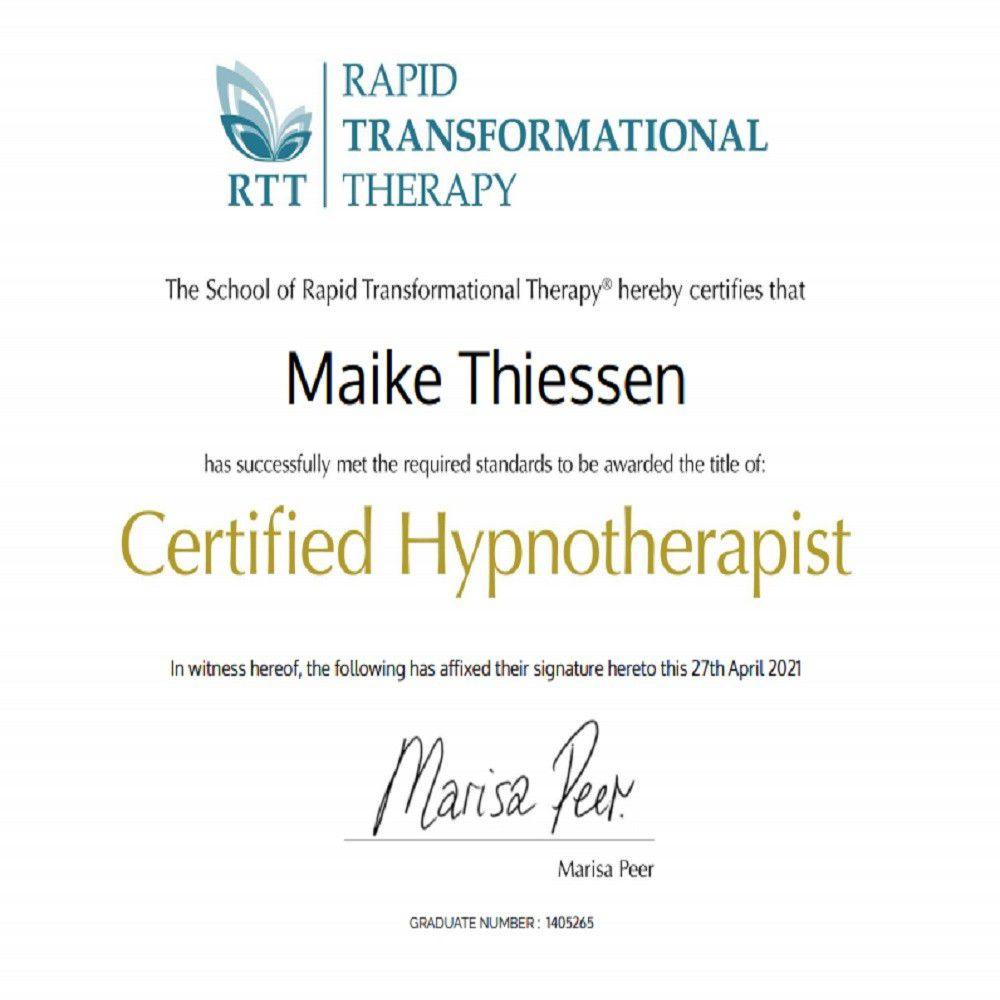 Certified Hypnotherapist