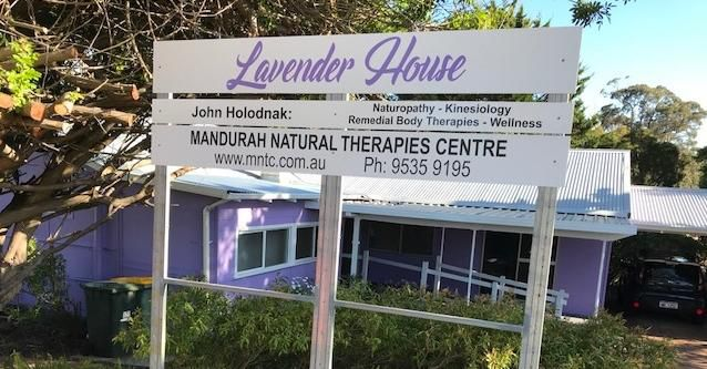 Welcome to Lavender House This is where John Holodnak and Mandurah Natural Therapies Centre operates from.