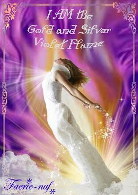 Gold  & Silver Violet Flame