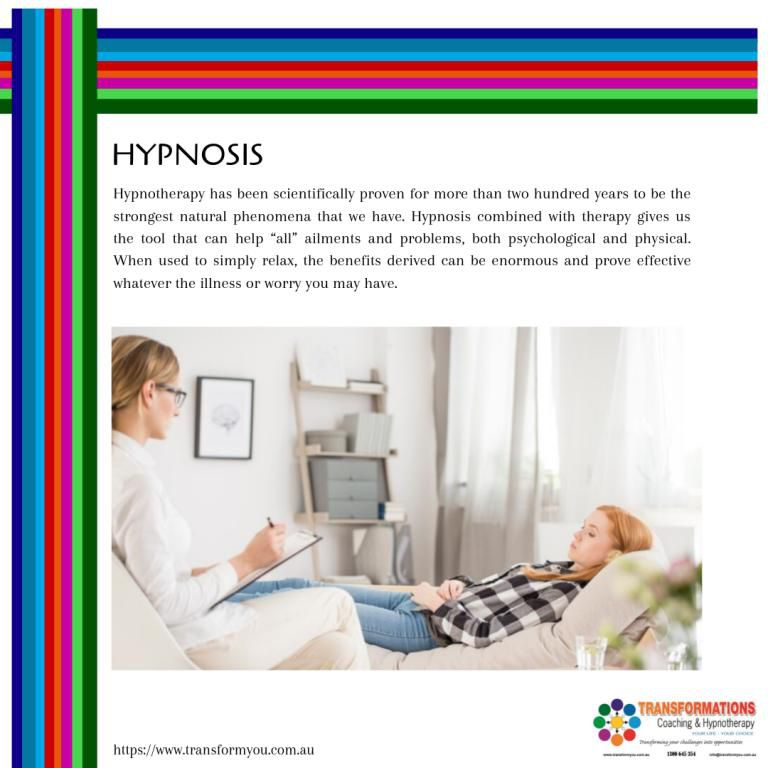 Hypnosis can be used to:  Overcome fears and Phobias Break habits: Smoking, nail-biting, Overeating, drinking, gambling, etc Resolve: Long term anxiety, stress, depression or anger issues Weightloss gastric band Unconscious beliefs: Regain confidence