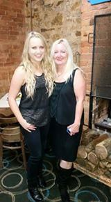 Christie Lamb (Popular Country Singer) & I on my Birthday at The Loaded Dog Restuarant