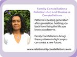Family Constellations Facilitator Training