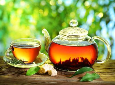 Specialty Organic teas made on site.