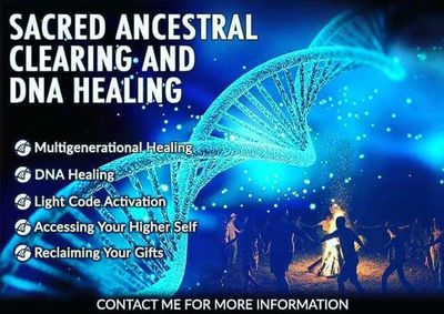 The Sacred Ancestral Clearing and DNA Healing is a powerful and profound combo of working with Spirit, Energetic Alchemy, Hypnosis, Timeline Therapy and NLP to create the most unique and pure wave of healing throughout an entire bloodline.