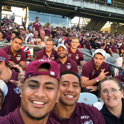 Sarah During this game one and only Massage therapists performing deep massage and soft tissue massage on the Manly Sea eagles/National Rugby Leagues club side.  Sarmassage operates in Penrith in private clinic as well