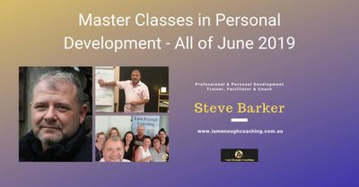 A month of Master Classes this June commencing 6th June and running every Thursday evening.  Visit - https://www.facebook.com/pg/Iamenoughcoaching/events/?ref=page_internal For more information
