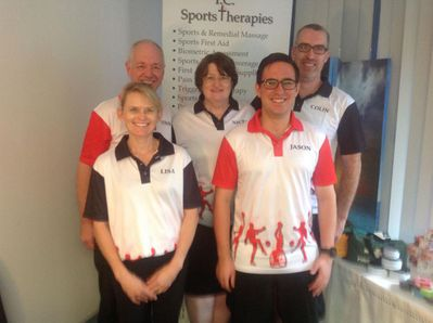 Our team of therapists. Back row: Steve, Nicki and Colin (who is no longer with us), Front: Lisa and Jason