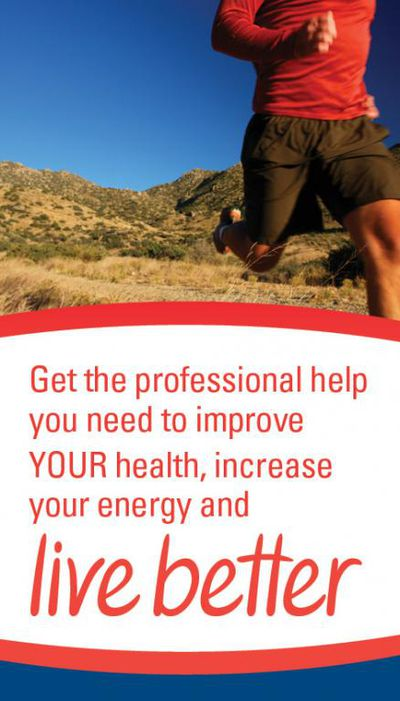 Get the professional help you need to improve your health, increase your energy and live better.