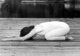 Childs pose, a comfortable position for pregnancy, labour and birth