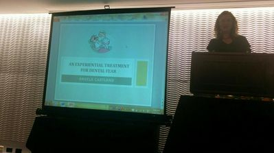 Presenting my research on EFT Tapping for dental fear in the US